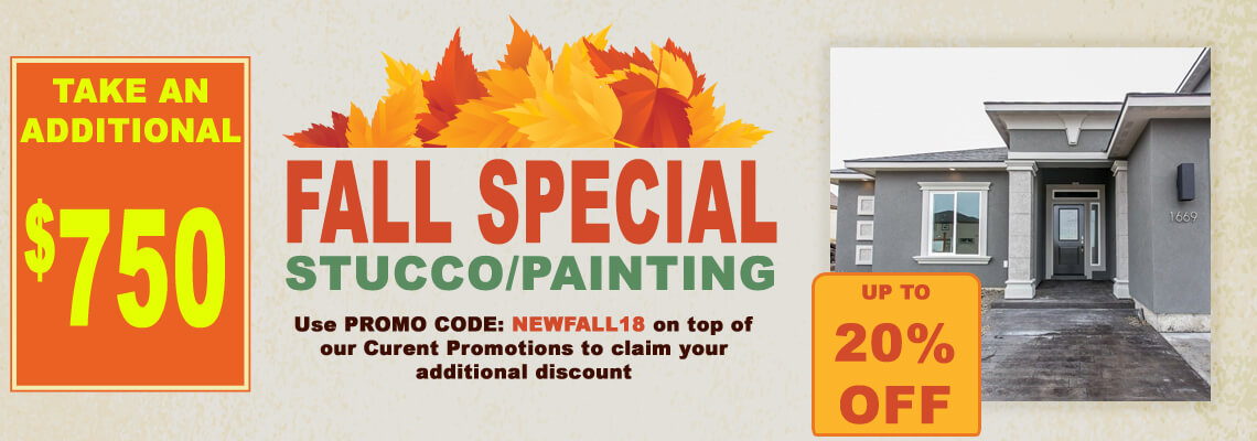 fall exterior stucco promo